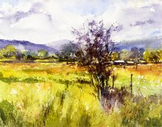 Sherry Schmidt - Watercolor for an online class given by Vinita Pappas