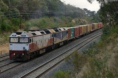 Australia - Freight train G532 and G512 at Heathcote Junction with 9372 by VRfan, via Flickr