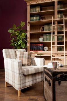 Obývačka z kolekcie Edinburg    #obyvacka#karo#potahnasedacku#ikea Bristol, Shelving, Bookcase, Ikea, Living Room, Fabric, House, Furniture, Collection