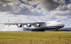 壁紙をダウンロードする An-225Mriya, 4k, Antonov, 貨物の航空機, カザーク, An-225