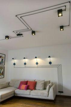 home decor kitchen Industrial Interior Design, Cafe Interior Design, Interior Lighting, Home Lighting, Lighting Design, Interior Decorating, Loft Interiors, Office Interiors, Ceiling Design