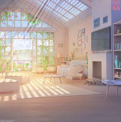 """【背景】""""Nikki room 『Shining Nikki』"""" / Illustration by """"ArseniXC"""" [pixiv] Episode Interactive Backgrounds, Episode Backgrounds, Anime Backgrounds Wallpapers, Anime Scenery Wallpaper, Casa Anime, Arte Indie, Anime Places, Scenery Background, Room Wallpaper"""