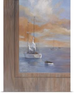 Vivien Rhyan Poster Print Wall Art Print entitled Sailing at Sunset I, None