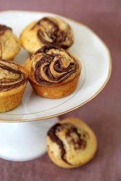 Muffins Straciatella au Nutella, Recette de Muffins Straciatella au Nutella par Betty A. - Food Reporter