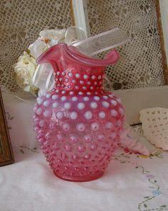 Vintage Fenton Art Glass Cranberry Opalescent by NewEnglandVintage