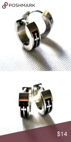 Hoop earrings male earrings mens earrings for men Male Earrings, Silver Earrings, Hoop Earrings, Bling Jewelry, Diamond Jewelry, Jewelry Accessories, Gifts For Him, Sassy, Cufflinks
