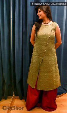 Kurti Salwar Pattern, Kurti Patterns, Dress Patterns, Kurta Designs Women, Kurti Neck Designs, Blouse Designs, Indian Dresses, Indian Outfits, Kurtha Designs