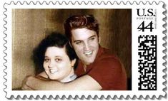 liked best for an Elvis and Gladys Mothers' Day stamp, it turned out to be a Photoshop composite. The shot of smiling Gladys below had to have been taken several years before the one of Elvis.
