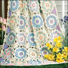 Free pattern for a limited time period  from Crochet World Magazine called Garden Afghan by Dot Drake http://www.crochet-world.com/patterns/pdfs/SM14055_Feb2014.pdf