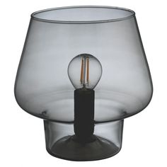 LYSS Smoked glass table lamp | Buy now at Habitat UK