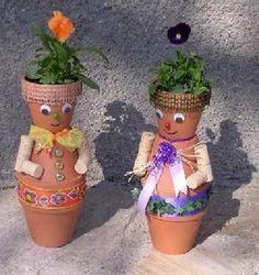 Basteln Tontopffiguren Frühling @creadoo -Die Nr.1 in kreativer Freiz eit!-
