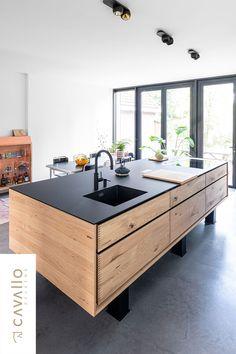 Kitchen Corner, Kitchen Island, Industrial Style Kitchen, Interior Inspiration, Bungalow, Home Improvement, New Homes, Pregnancy, Kitchens