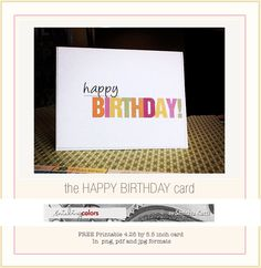 {Freebie: Printable Birthday card} - Smiling Colors, blogged by Smitha Katti