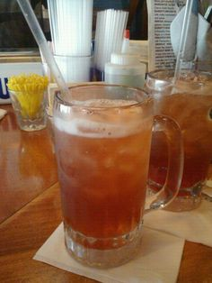 A Dancing Bear - a Long Island ice tea on steriods! Vodka, gin, silver tequila, light rum, coconut rum, amaretto, raspberry liqueur, peach schnapps, Southern Comfort, triple sec, cranberry juice, pineapple juice, and a splash of grenadine