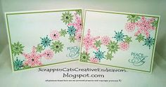 CTMH Frosted Snowflake Cards, Inspired by Pinterest.