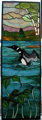 Stained glass loon window by www.phoenixstudio.com