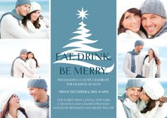 Great holiday party invitation design for a holiday season engagement party! 'Beautiful Moments' by Kleinfeld Paper