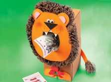Craft Ideas : Projects : Details : louie-the-lion-card-box