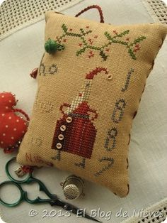 Ho Ho Ho de Pineberry Lane  punto de cruz cross stitch point de croix Christmas noel navidad