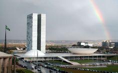 Vista Edificio del Parlamento, Brasilia, Brasil