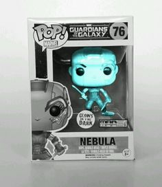 "NEBULA GUARDIANS OF THE GALAXY FUNKO POP 76 CUSTOM FIGURE BLUE GLOW IN DARK. This Nebula Figure is a Glow in the Dark Custom Creation of Mar Mars Toys Exclusive. We have made Nebula GLOW, for those true fan's that would appreciate and admire This Vinyl Figure from Guardians of the Galaxy. Box is not grey, It's displayed this way to show glow in the dark affect.  Figures stands 3 ¾"" tall!  Awesome to collect!  Ages 17 Plus  Each box comes with a displayable window box specially designed to…"