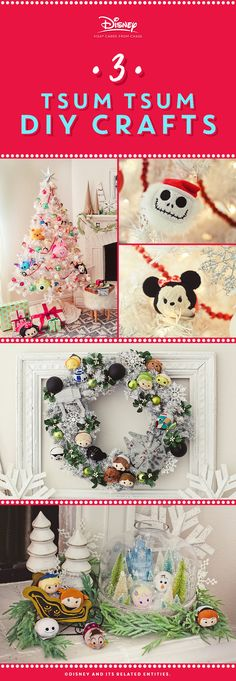 Make your holidays a little brighter using our step-by-step guide to decorating with Disney Tsum Tsum! From STAR WARS™ on a wreath, to FROZEN in a jar, to a tree stacked with Tsum Tsum, we've got your holidays covered in cuteness.