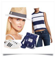Street sailor by natipureidea on Polyvore featuring Neiman Marcus, adidas Originals, Sloane and Vince Camuto Nautical Looks, Vince Camuto, Neiman Marcus, Adidas Originals, Sailor, Shoe Bag, Street, Polyvore, Shopping