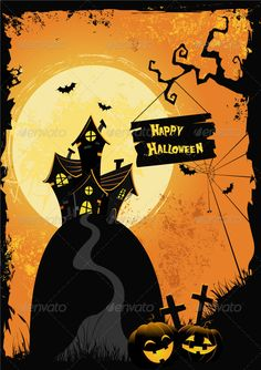 Buy Halloween Poster by PinarInce on GraphicRiver. Halloween Fonts, Fun Halloween Crafts, Halloween Vector, Halloween Cartoons, Halloween Poster, Halloween Items, Halloween Patterns, Halloween Activities, Halloween Masks
