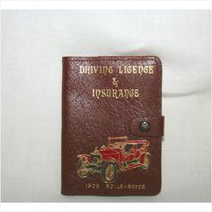 Vintage Real Leather 1909 Rolls Royce Driving Licence Insurance Wallet on eBid United Kingdom