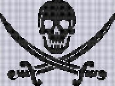 Skull and Swords Cross Stitch Pattern  - via @Craftsy
