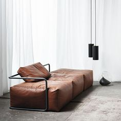 Daybed leather sofa by Sönke Martensen #sofa #leather #interiors #furniture #design