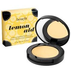 Benefit Lemon Aid!! This stuff is awesome. I use it for a eyeshadow primer on my lids before I apply my shadow.  It cancels out any dark pigment in your skin and also keeps your shadow from creasing and disappearing.. This one is a winner! Aimee