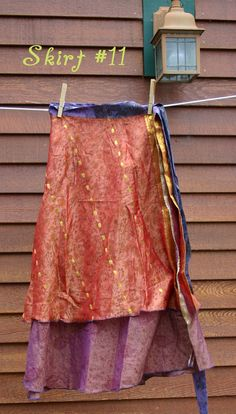 Multiwear Recycled Silk Sari Skirt: $29.99      June 2012 | Darn Good Yarn | The Best Yarn Store!