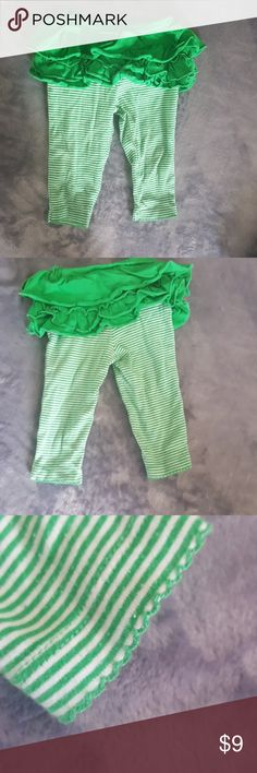 Carter's Green Skirt Leggings These pants are very stretchy and soft. They have no stains or anything and can be worn for st Patrick's day coming up. Carter's Bottoms