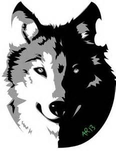 Negative Space Wolf - Yahoo Image Search Results