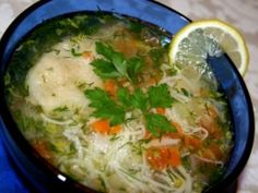 Soups and Stews Chicken Noodle Soup, Russian Recipes, Lemon Chicken, Along The Way, Soups And Stews, Soul Food, Thai Red Curry, Noodles, Traditional