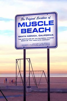 Muscle Beach by Art Block Collections - Historic Muscle Beach, with its workout equipment was made famous by Jack LaLanne. The exercise area was originally started on Santa Monica Beach, California. Most people now are more familiar with the Venice Beach location.