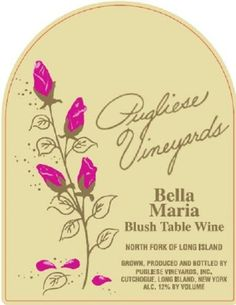 NV Pugliese Vineyards Bella Maria Blush Table Wine 750 mL *** See this great product.