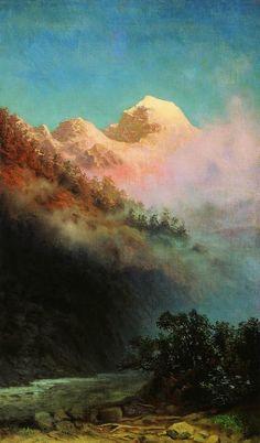 Lever du soleil, huile de Arkhip Ivanovich Kuinji (1842-1910, Russia)