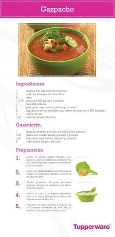 El Gazpacho es una receta deliciosa, fresca y fácil de hacer con la ayuda de Tupperware. ¡Sorprende a tu familia!