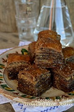 Albanian Recipes, Bosnian Recipes, Croatian Recipes, Sweet Recipes, Cake Recipes, Dessert Recipes, Baklava Dessert, Kolaci I Torte, Mediterranean Diet Recipes