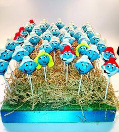 Smurf cake pops By blakers dozen