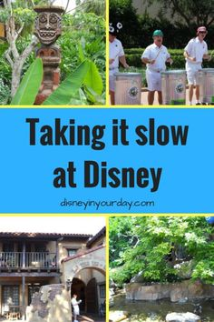Did you know there's a way to enjoy Disney without rushing from ride to ride?  Check out these tips on how to take it slow and enjoy the atmosphere a little!