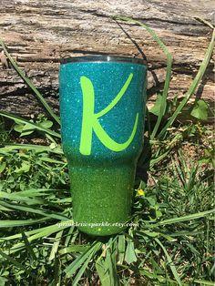 Ombre Glitter dipped tumbler/Ozark trail tumbler/Yeti