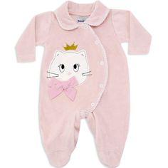 Macacão de Plush para Bebê e Recém Nascido Menina Rosa - Travessus :: 764 Kids   Roupa bebê e infantil