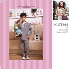 #Press // #SoGlitter celebrates the kids week with its #summer edition! Here a beautiful editorial in Total Look by #MythsKids!