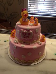 Rubber duck themed baby shower