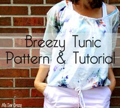 Me Sew Crazy: Womens Breezy Tunic {Pattern & Tutorial}...