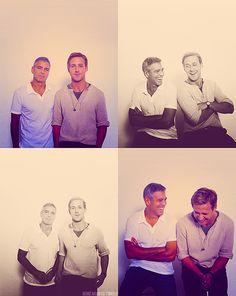 George Clooney and Ryan Gosling
