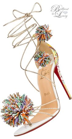 Brilliant Luxury ♦ Christian Louboutin Starouchi color block vibrant material mixed sandals